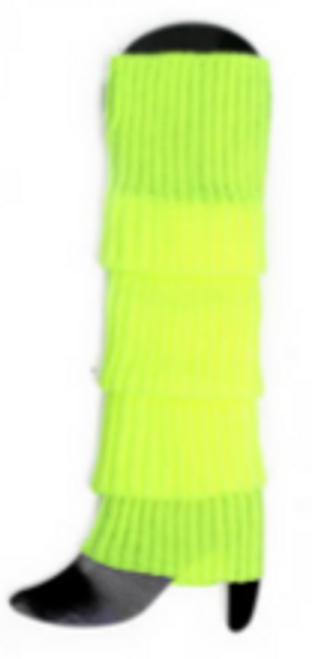 Plain Leg Warmer (Chunky Knit) (Fluro Yellow)