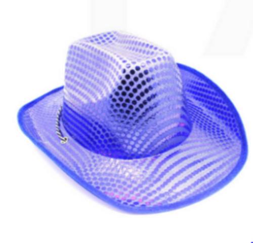 Sequin Cowboy Hat (Blue)