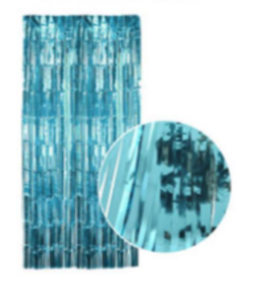 Metallic Curtain (Light Blue)