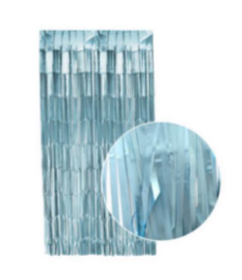 Matte Tinsel Curtain (Light Blue)