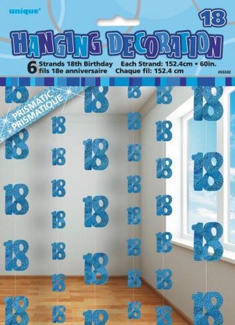GLITZ BLUE 6 HANG DECO 5ft -18