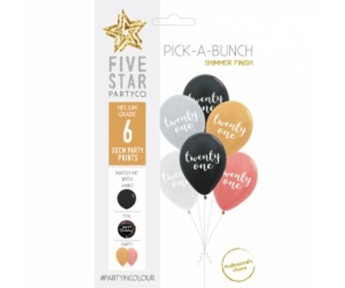 PICK-A-BUNCH Twenty One 30cm Asst 6pk