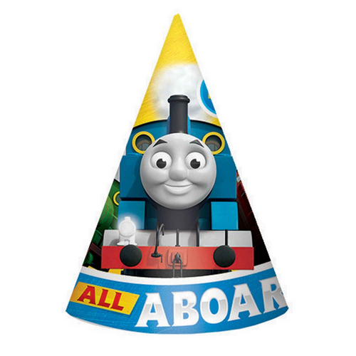 Thomas All Aboard Cone Hats - 8pc