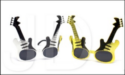 Party Glasses Guitar (Gold & Silver)