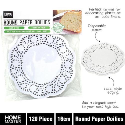Doilies Round Paper 16cm 120pc