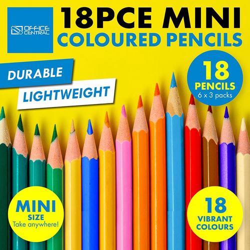 Pencils Colour Mini 3 x 6pc