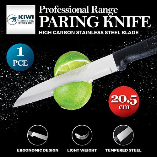 KIWI PARING KNIFE BLACK HANDLE