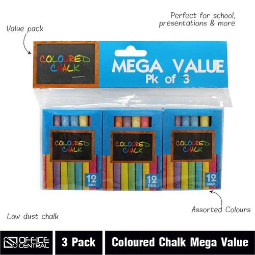 Chalk Coloured - 9cm 3pk