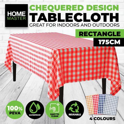 Tablecloth Chequered Print - 130cm x 175cm