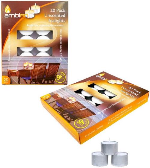 Tea Light Candles (9HR) - 20PK