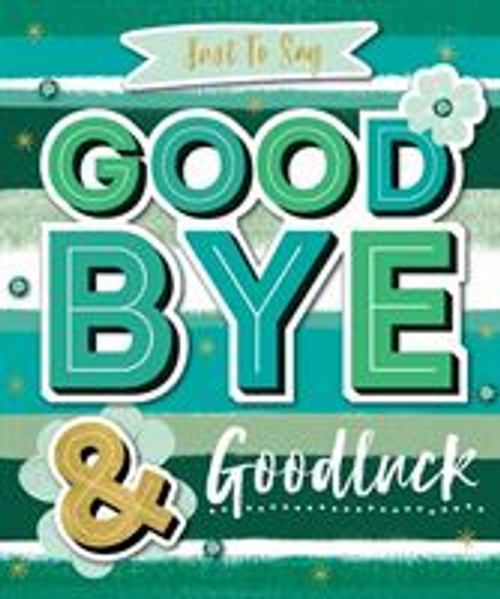 CARD NQSQUARE GOODBYE LUCK