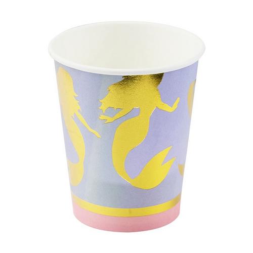 Mermaid paper cups