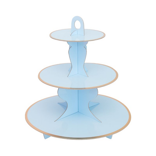 Blue cake Stand(Gold foil edge)