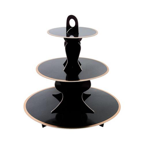 Black cake Stand(Gold foil edge)