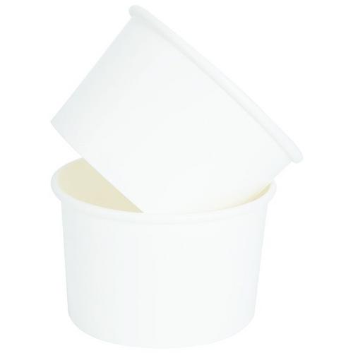 12oz white paper tub 24pk