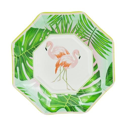 flamingo plates-small