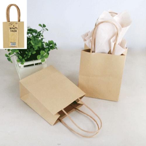 **4pk Sml Brown Kraft Bag (11.1x6.2x13.7cm)