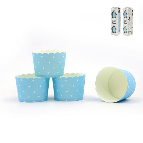 *30pk Blue Dotty Baking Cups