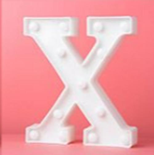 LED Letter X