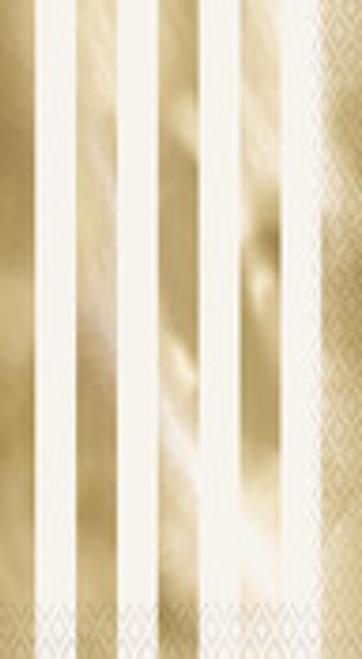 GOLD FOIL STRIPE 16 GUEST NAPS