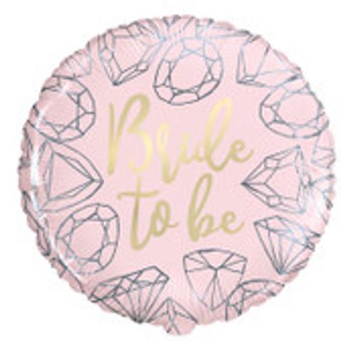 "BRIDE TO BE  DIAMONDS 18"" FOIL BLN PKG"