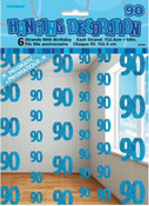 GLITZ BLUE 6 HANG DECO 5ft -90