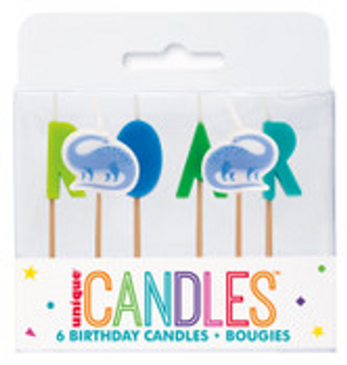 BLUE & GREEN 6 PICK BIRTHDAY CANDLE
