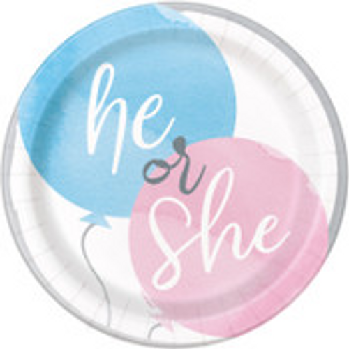 """BABY REVEAL 8 x 7"""" PLATES"""