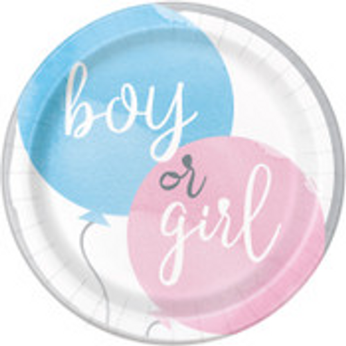 """BABY REVEAL 8 x 9"""" PLATES"""