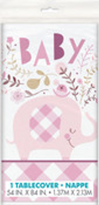 PINK ELEPHANT TABLECOVER