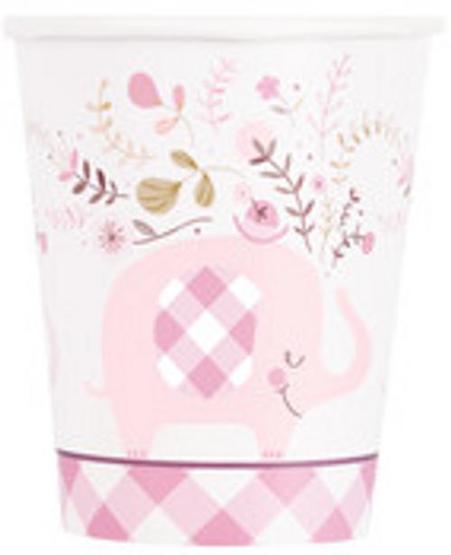 PINK ELEPHANT 8 x 9oz CUPS