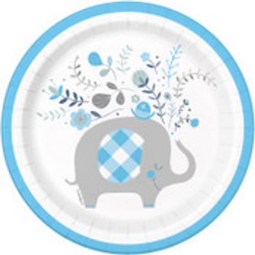 "BLUE ELEPHANT 8 x 7"" PLATES"