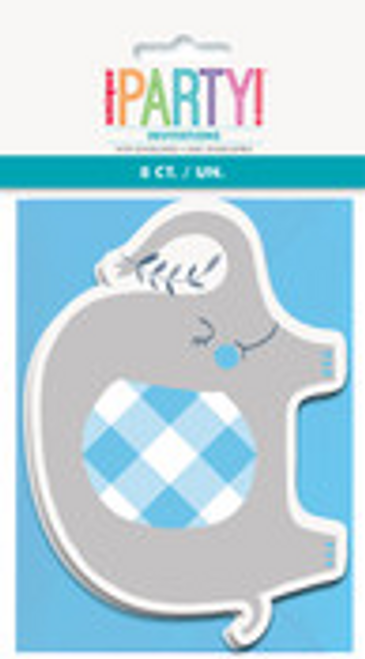 BLUE ELEPHANT 8 INVITATIONS