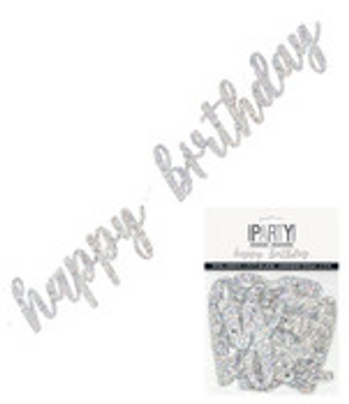 SILVER H/B'DAY JOINTED BANNER