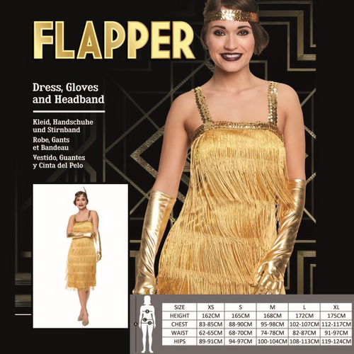 GOLD FLAPPER SIZE S