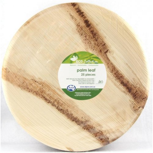 Palm Leaf Round Plate 10inch Pack 25