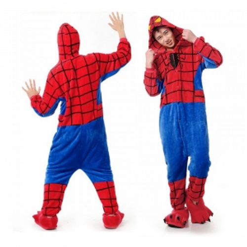ADULTS  SPIDERHERO  ONESIE