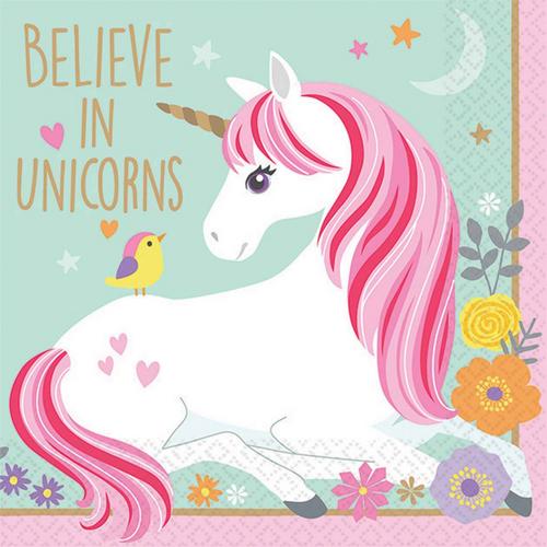 Magical Unicorn B/Napkin