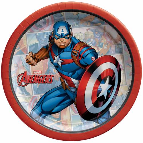 Marvel Powers Unite Captain America Plate