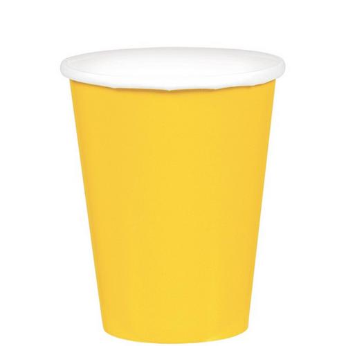 9oz/266ml Cups Ppr 20CT Yellow Sunshine