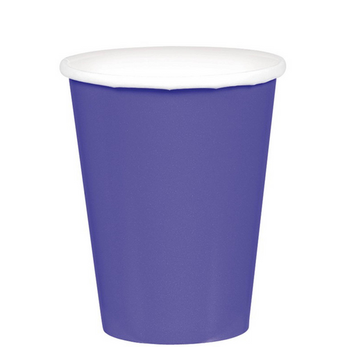 9oz/266ml Cups Ppr 20CT New Purple