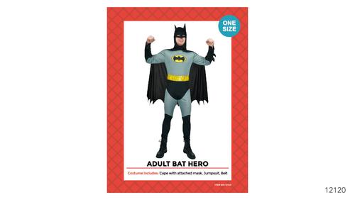 Adult Bat Hero Costume One Size