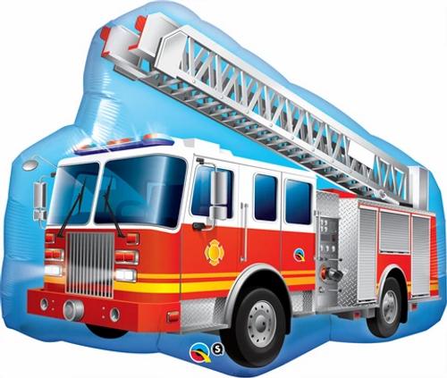 "36""  SHAPE RED FIRE TRUCK"