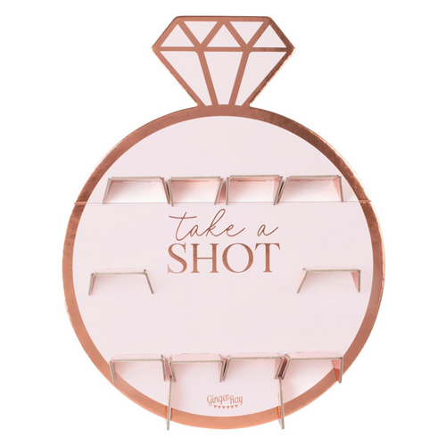 Hen Party Rose Gold Ring Shot Wall