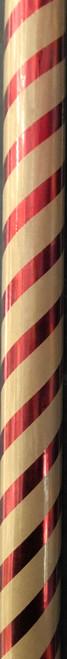 Metallic Red & Kraft Wrapping Paper