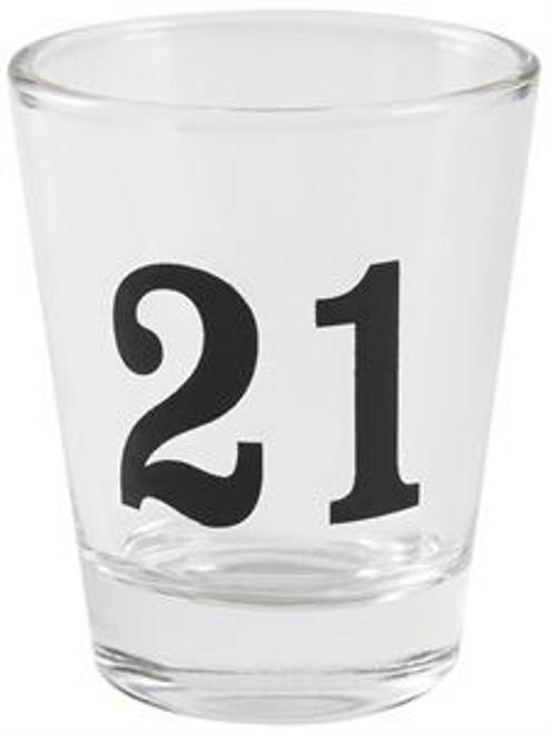 21 SHOT GLASS  9CM