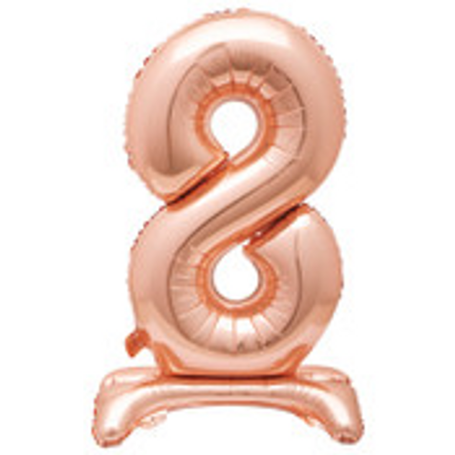 """30"""" ROSE GOLD FOIL STANDING NUMBER BALLOON-8"""