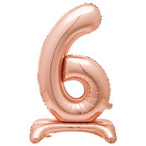 """30"""" ROSE GOLD FOIL STANDING NUMBER BALLOON-6"""