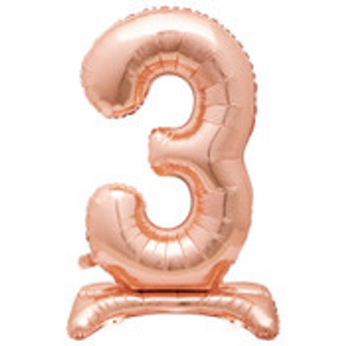 """30"""" ROSE GOLD FOIL STANDING NUMBER BALLOON-3"""