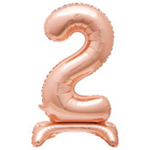"""30"""" ROSE GOLD FOIL STANDING NUMBER BALLOON-2"""